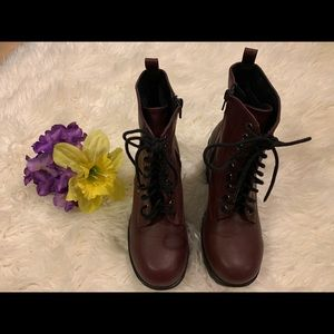 Maroon Soda Brand Booties